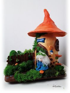 Mushroom Picks Red White Polka Dot Fabric Pixie Fairy 3 Packs 6 Total NWT NEW!