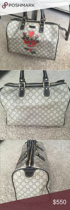 Authentic Gucci bag! From the Rihanna tattoo collection. My all time favorite.. But need the money right now so I'm selling :( I've only worn it a few times and it has been stored away in my closet. Send reasonable offers!! Gucci Bags Totes