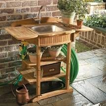 No Extra Plumbing Needed Outdoor Sink. I Think I Could Make One For Less  Than