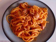 Donde comen cinco....: Espaguettis divertidos