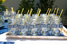 Nautical theme is the one of the most popular themes for weddings and bridal showers. So if you decided to choose it for your bridal shower, then you need Bridal Shower Punch, Navy Bridal Shower, Nautical Bridal Showers, Nautical Party, Nautical Wedding, Sister Wedding, Our Wedding, Wedding Ideas, Wedding Favors