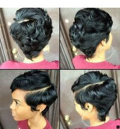 Short Hair Styles, Short Hairstyles For Black Females: Adorable Short Black Hairstyles Tap the link now to find the hottest products for Better Beauty! 27 Piece Hairstyles, African Hairstyles, Short Hairstyles For Women, Trendy Hairstyles, Girl Hairstyles, Braided Hairstyles, Celebrity Hairstyles, Hairstyles Haircuts, Hairstyles Pictures