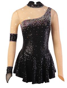 Figure Skating + Dress + Women & Girl + Ice + Skating + Dress + Spandex + Rhinestone … – All Sequined Outfits Figure Skating Competition Dresses, Figure Skating Outfits, Figure Skating Costumes, Figure Skating Dresses, Girls Dance Costumes, Dance Outfits, Dance Dresses, Red Fashion, Fashion Pants