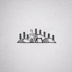 Camp by mountains
