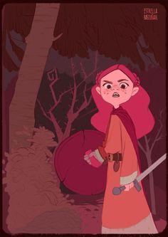 Pink warrior on Behance