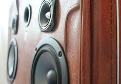 Vintage Leather Suitcase Stereo Portable Boombox by PovertyMuzyk, $600.00