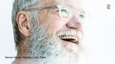 """""""Why does David Letterman have a beard? """"I just got tired of shaving every day, but then it became something else."""" http://nyti.ms/2e2uekD"""" 