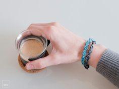 Crochet Bracelet . Blue tones . by idniama on Etsy, $20.00 #jewelry #bracelet