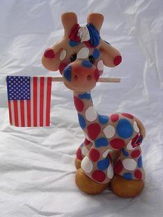 american giraffe by claykeepsakes, via Flickr