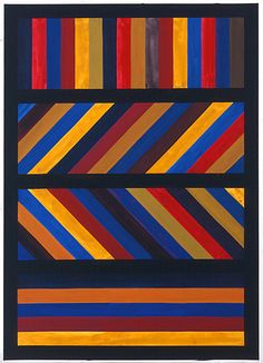 Sol Lewitt - this would make a great quilt. maybe not in these colors.