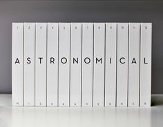 Twelve 506 page volumes printed-on-demand, representing a scale model of our solar system from the Sun to Pluto.