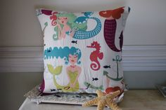 Hey, I found this really awesome Etsy listing at https://www.etsy.com/listing/182795561/embroidered-mermaid-pillow-beach-decor