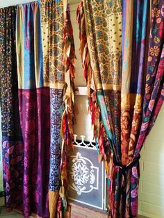 boho Gypsy Curtains Drapes Fall Hippie Luxe Hippy by HippieWild