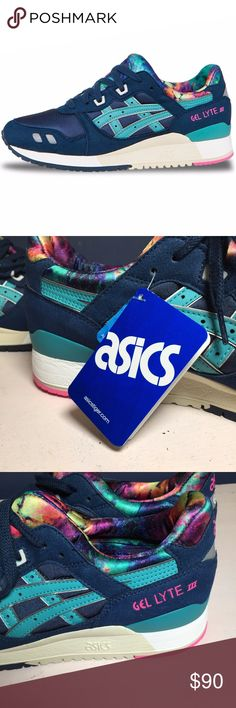 Asics Gel Lyte III Galaxy H5Q4N-5089 Size 8.5 9 13 Asics Gel Lyte III Galaxy Vintage Split Tongue Navy Blue H5Q4N-5089 New without box  Size 8.5, 9, 13 Asics Shoes Sneakers