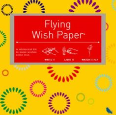 Flying Wish Paper Celebrate, Small by HUX Creative. $13.95. The Celebrate Flying Wish Paper is perfect for any gathering or personal thought. Think of a special wish - your fondest dreams, your deepest desire, your ambitions, concerns or burdens - and write it on the Flying Wish Paper. Shape your paper into a tub