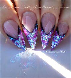 Luminous Nails: Stiletto Edge Nails!