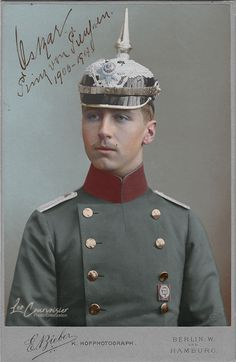 Prince Oskar of Prussia (1888-1958) in 1907. The Prince was the 5th son of the last German Emperor and King of Prussia, William II.