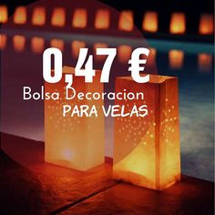 #bolsa #decoracion #eventos #aniversarios #bodas #tiendaonlinederegalos #velas #comprasonline #preciosincreibles