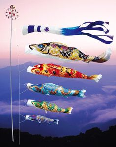 """Beautiful Carp streamer"" in Japan. 美しい鯉のぼり"