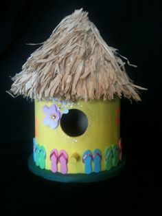Wooden birdhouse by chloehaney on Etsy, $20.00