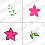PF37 Elegant Floral stamp set  #DeNamiParty