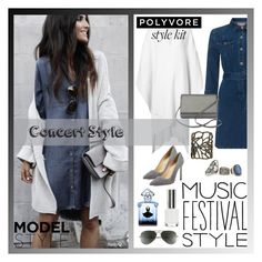 """""""Music Festival Style"""" by polyvore-suzyq ❤ liked on Polyvore featuring Voz, Phase Eight, Kate Spade, Ray-Ban, Topshop, Boohoo, New York & Company, Manolo Blahnik and Guerlain"""