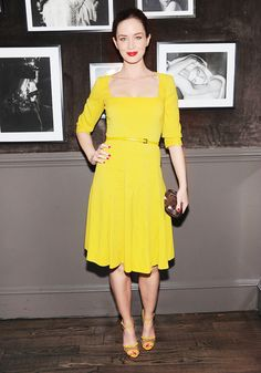 Emily Blunt at an Elie Saab dinner in New York City.