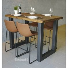 """Visit our web site for even more details on """"bar tables kitchen"""". It is an outstanding spot to learn more. High Top Table Kitchen, High Dining Table, High Top Tables, Bar Tables, Small Open Kitchens, Asian Interior, Wood Bar Stools, Dining Room Design, Kitchen Layout"""