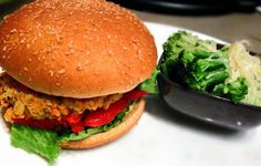Sweet Potato, Chickpea, and Quinoa Veggie Burger #vegetarian