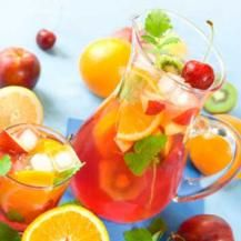 Perfect Punch recipe - (non alcohol) Makes 16-20 glasses  •	1 litre orange juice, chilled  •	1 litre pineapple juice, chillled  •	1 litre cranberry juice, chillled  •	1 litre ginger ale, chilled  •	Juice of 4 large limes  •	Ice cubes