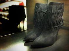 Sasha Bootie by @AQUAZZURA #Aquazzura #sasha #boots #fringe #FolliFollie #FW14collection