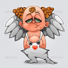 Bored cupid  #GraphicRiver         Illustration «Bored cupid» This image is a vector illustration and can be scaled to any size without loss of resolution. This image will download as a .eps file. You will need a vector editor to use this file (such as Adobe Illustrator). This works created in adobe illustrator, sometimes used to draw a graphic tablet. In the illustrations do not use other people's works, only my sketches or photo.     Created: 21February12 GraphicsFilesIncluded: JPGImage…