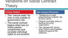 Variations on Social Contract Theory.