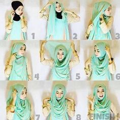 Gorgeous Hijab Tutorial For This Season. I like it!