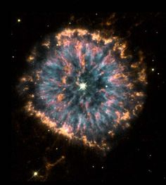 Hubble captures Planetary Nebula NGC 6751 Planetary nebulae do look simple, round, and planet-like in small telescopes. But images from the orbiting Hubble Space Telescope have become well known for. Cosmos, Space Photos, Space Images, Nasa Space Pictures, Telescope Pictures, Hubble Space Telescope, Space And Astronomy, Planetary Nebula, Helix Nebula