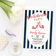 Bachelorette party Invitation Bridal Shower by AlniPrints on Etsy