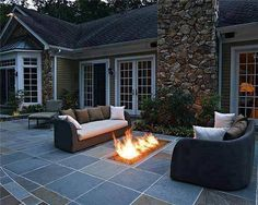 Great firepit and sitting area . right off the concrete pad!!  I do beleive I will !!