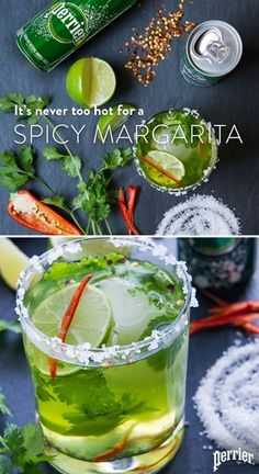Cool off your spicy Margarita by adding a little Perrier. This recipe will have you craving spice even in the hottest conditions. Visit http://perrier.com for the recipe and to find out other ways to add a little spice to the everyday. 21+