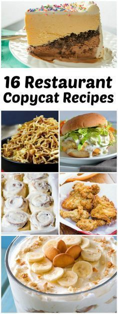 16 Restaurant Copycat Recipes: including favorites from Cinnamon, Dairy Queen, Panda Express, KFC, Chipotle, Macaroni Grill and more!