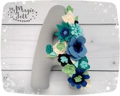 Floral letters nursery decor baby initials floral nursery wall