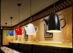 Enkel-Men-Beautiful hängande-Teapots-dekoration-Idéer