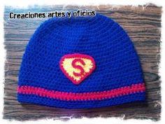 Gorro tejido de Superman