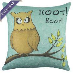 Hoot Pillow via JossandMain