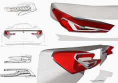 BMW f+b light study 2015 Tail Light, Head Light, Bmw Concept, Light Study, Interior Sketch, Car Headlights, Boat Design, Car Drawings, Transportation Design