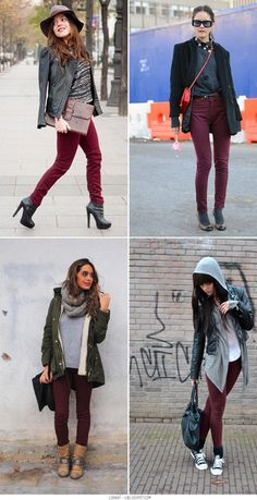 More burgundy jeans!