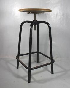 Sgabello INDUSTRIAL-CHIC/Vintage Stool/Hoker/Apothec/Urban/Bauhaus/Bar Stool(3)