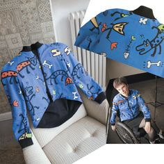 Variation on pattern for women's raglan jacket for wheelchair users