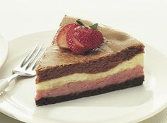 Try this Neapolitan Cheesecake recipe, made with HERSHEY& products. Enjoyable baking recipes from HERSHEY& Kitchens. Fall Dessert Recipes, Fall Desserts, Just Desserts, Sweet Desserts, Sweet Recipes, Easy Cakes For Kids, Cheesecake Recipes, Cheesecake Bars, Deserts
