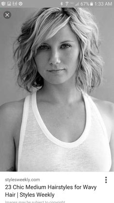 23 Chic Medium Hairstyles for Wavy Hair - Styles Weekly - Mechthild K. - 23 Chic Medium Hairstyles for Wavy Hair - Styles Weekly Medium Wavy Hairstyle: Summer Haircuts for Women Over love this style that Jennifer nettles is sporting! Wavy Bob Hairstyles, Short Haircuts, Hairstyles 2016, Trendy Hairstyles, Short Wavy Hairstyles For Women, Medium Length Wavy Hairstyles, Ladies Hairstyles, Natural Hairstyles, Haircut Short