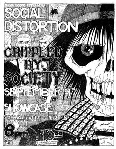 Social Distortion artwork.  I miss the old underground music 'zines, the artwork was so cool.